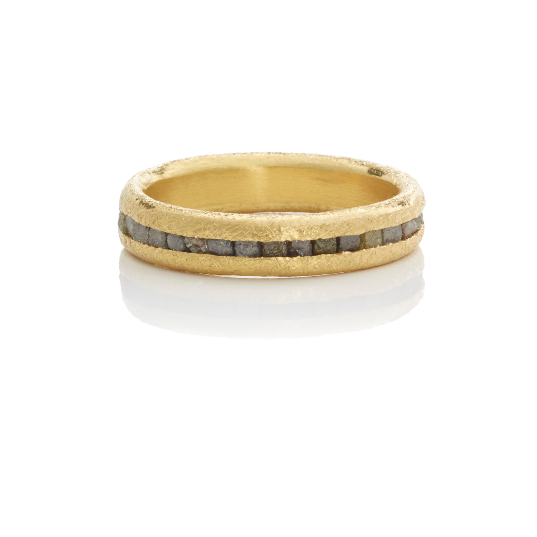 Todd Reed Raw Diamond & Gold Band Ring