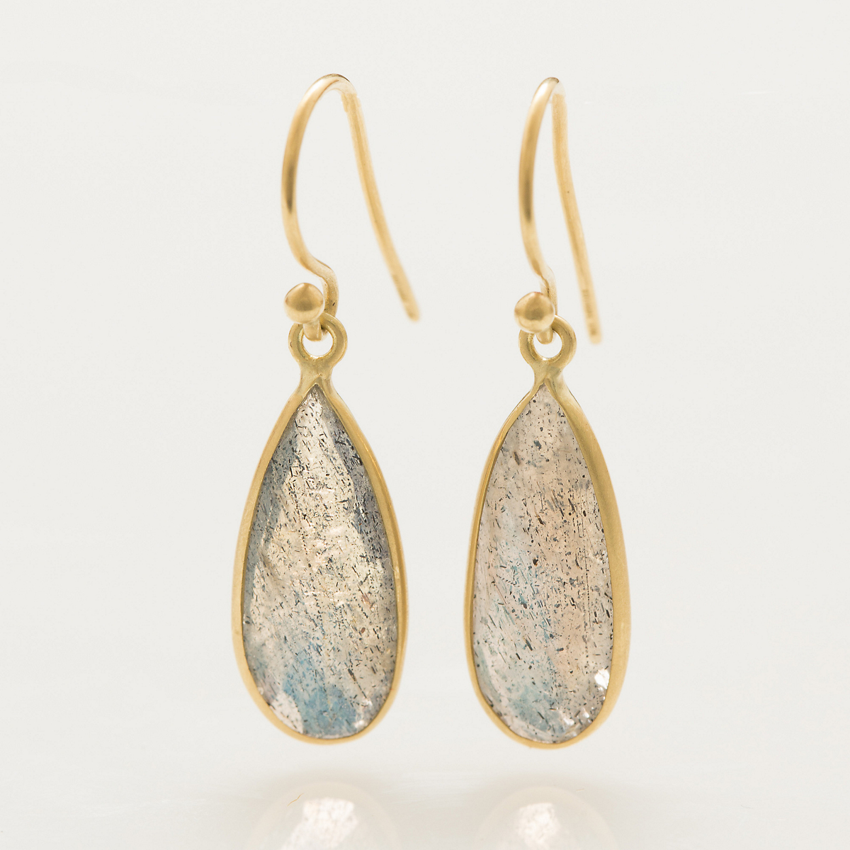 Kothari Rose Cut Labradorite Drop Earrings