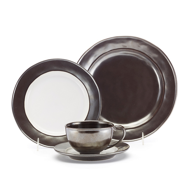 Juliska Emerson Pewter Stoneware Dinnerware