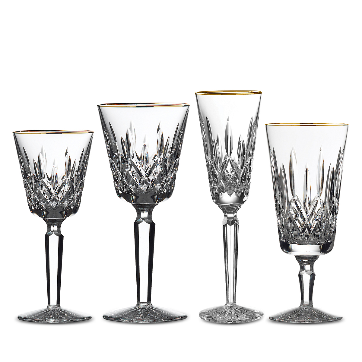 Waterford Lismore Tall Stemware, Gold