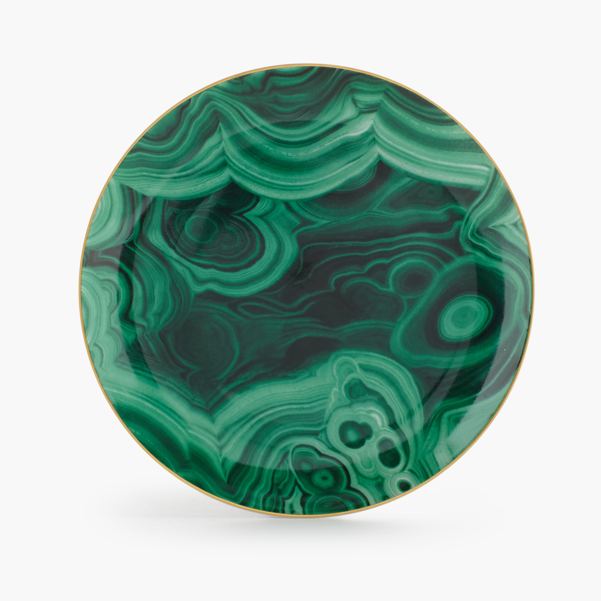 L'Objet Set of 4 Malachite Dessert Plates