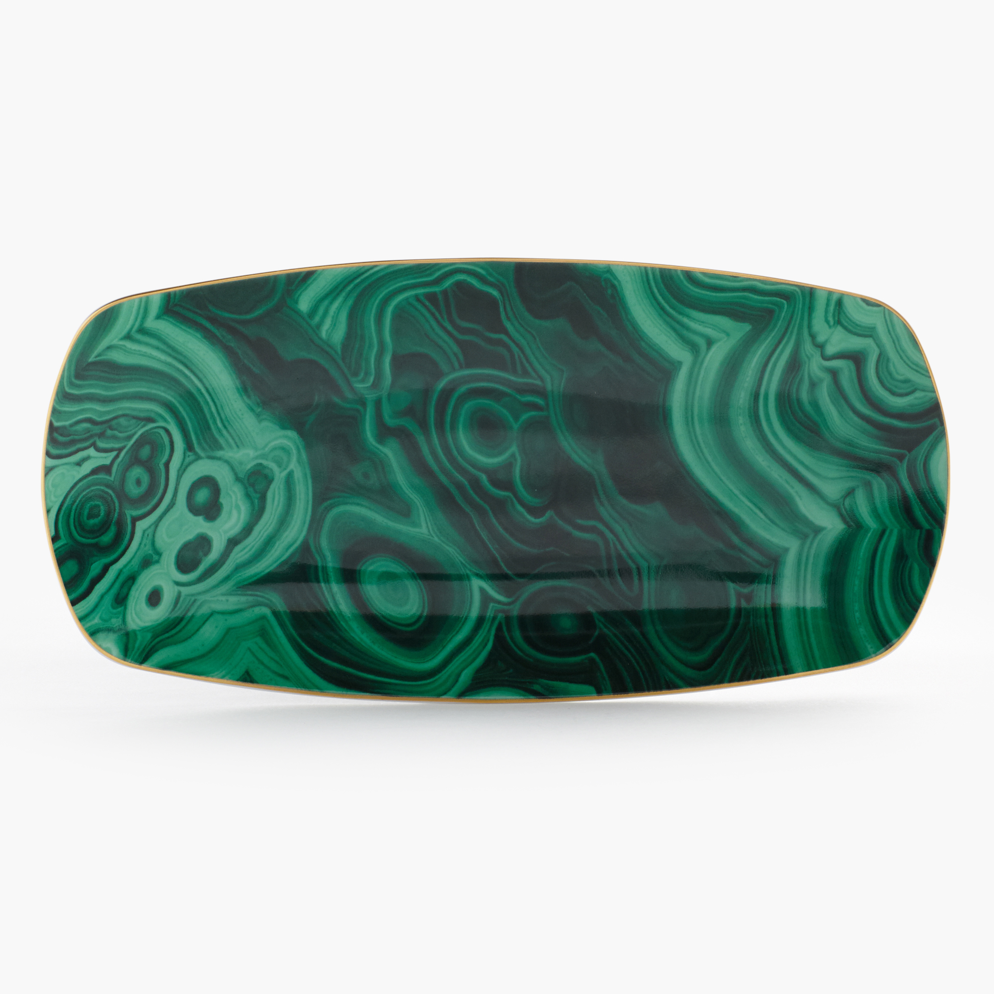 L'Objet Medium Malachite Tray