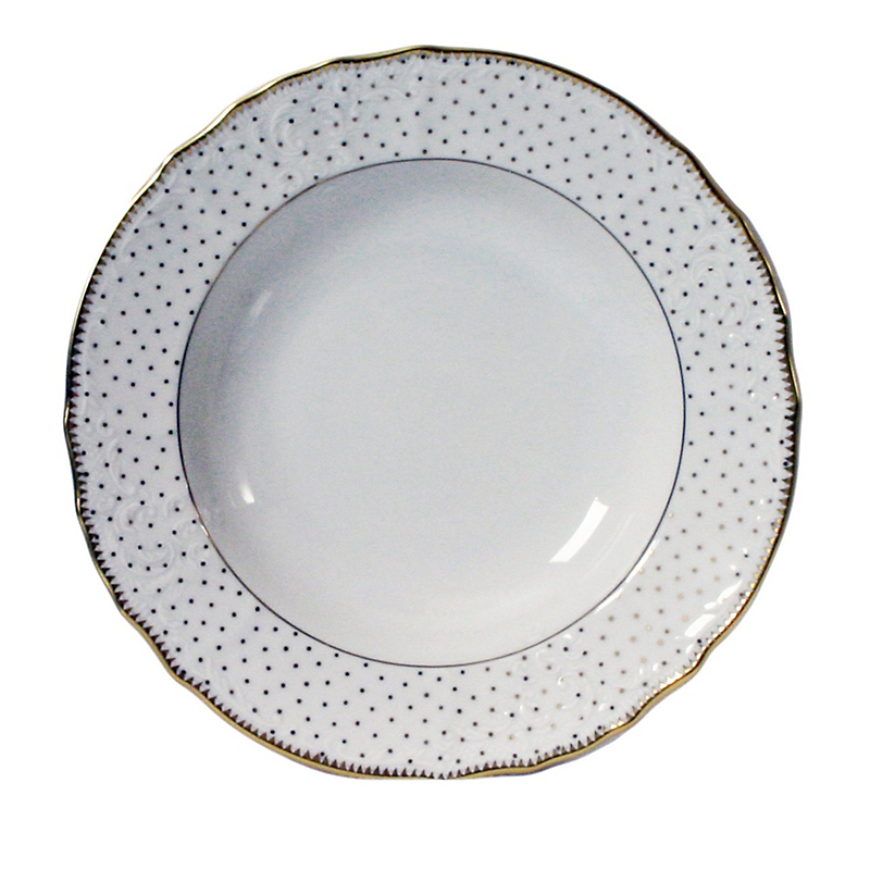 Anna Weatherley Simply Anna Polka Dot Rim Soup Bowl