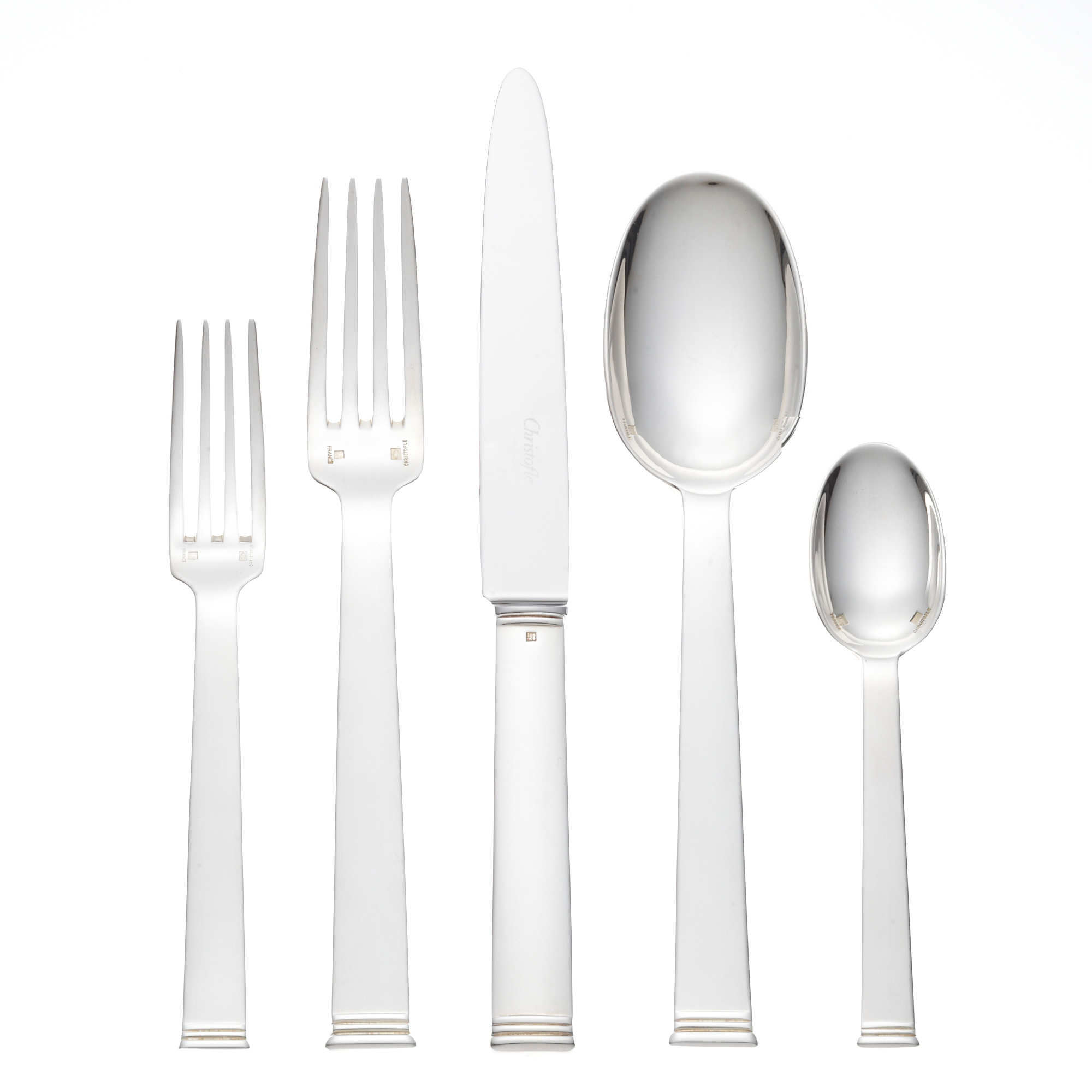 Christofle Commodore Silver Plate Flatware