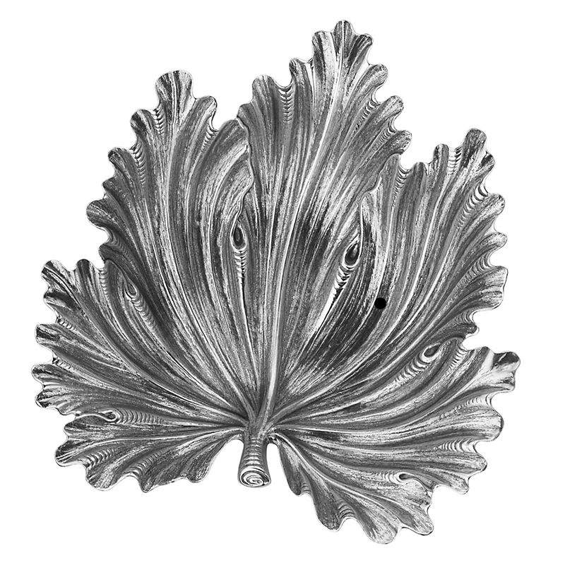 Buccellati Fig Leaf Sterling Silver Dish, Medium