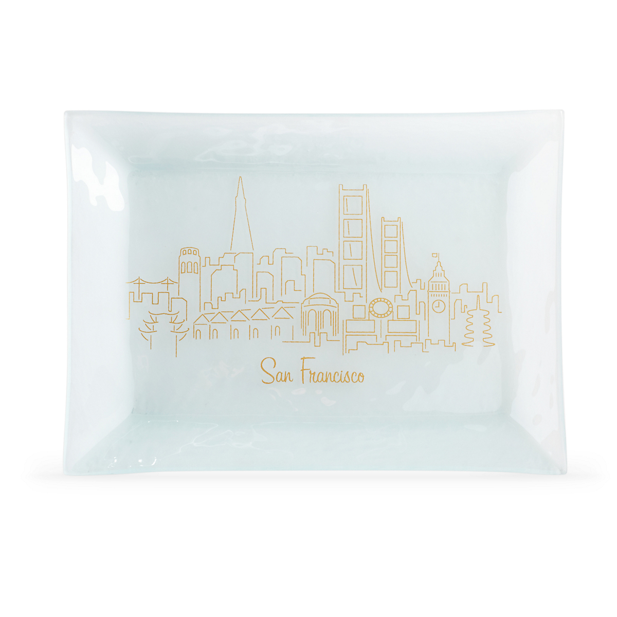 Annieglass San Francisco Skyline Rectangle Tray
