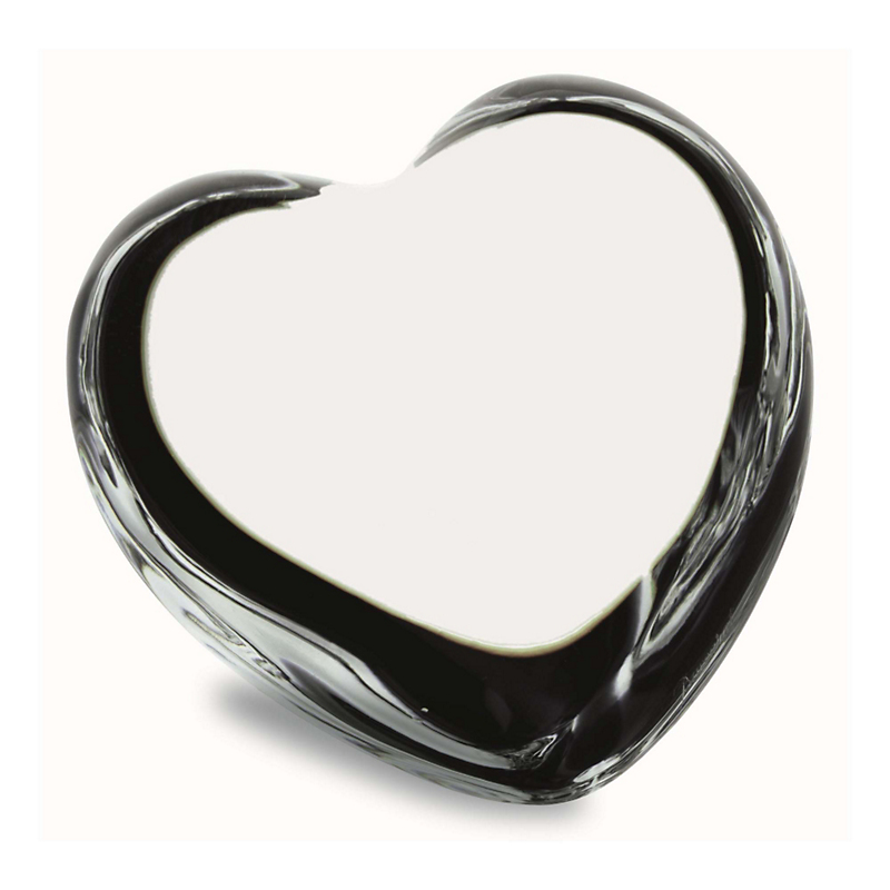 Baccarat Puff Heart, Clear