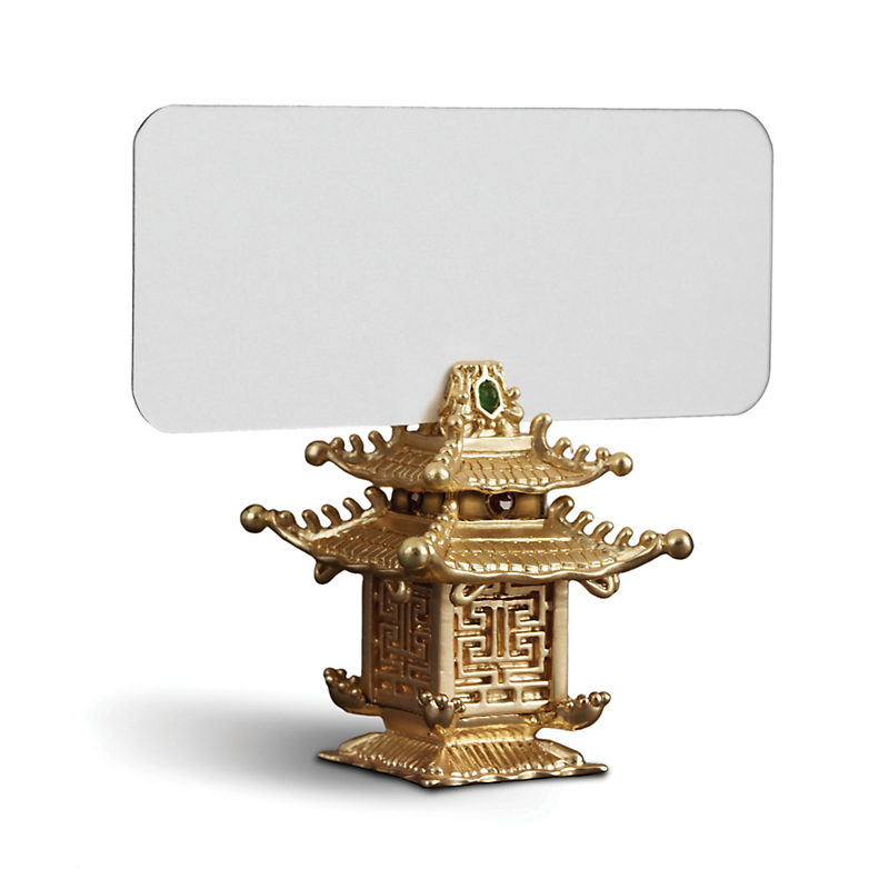 L'Objet Pagoda Placecard Holders, Set of 6