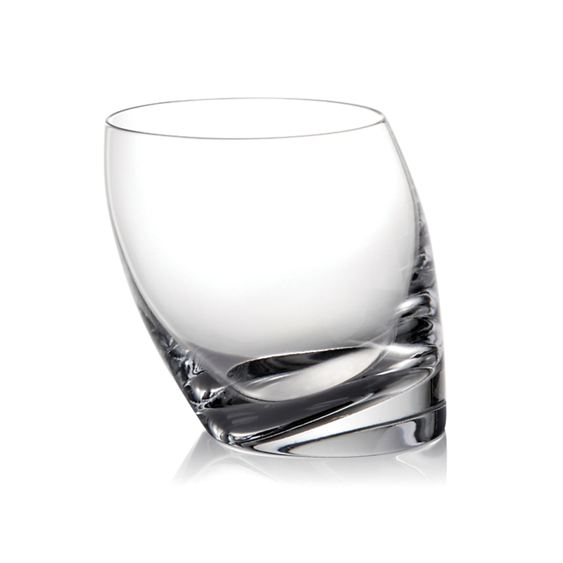 Nambe Tilt Double Old-Fashioned Glass
