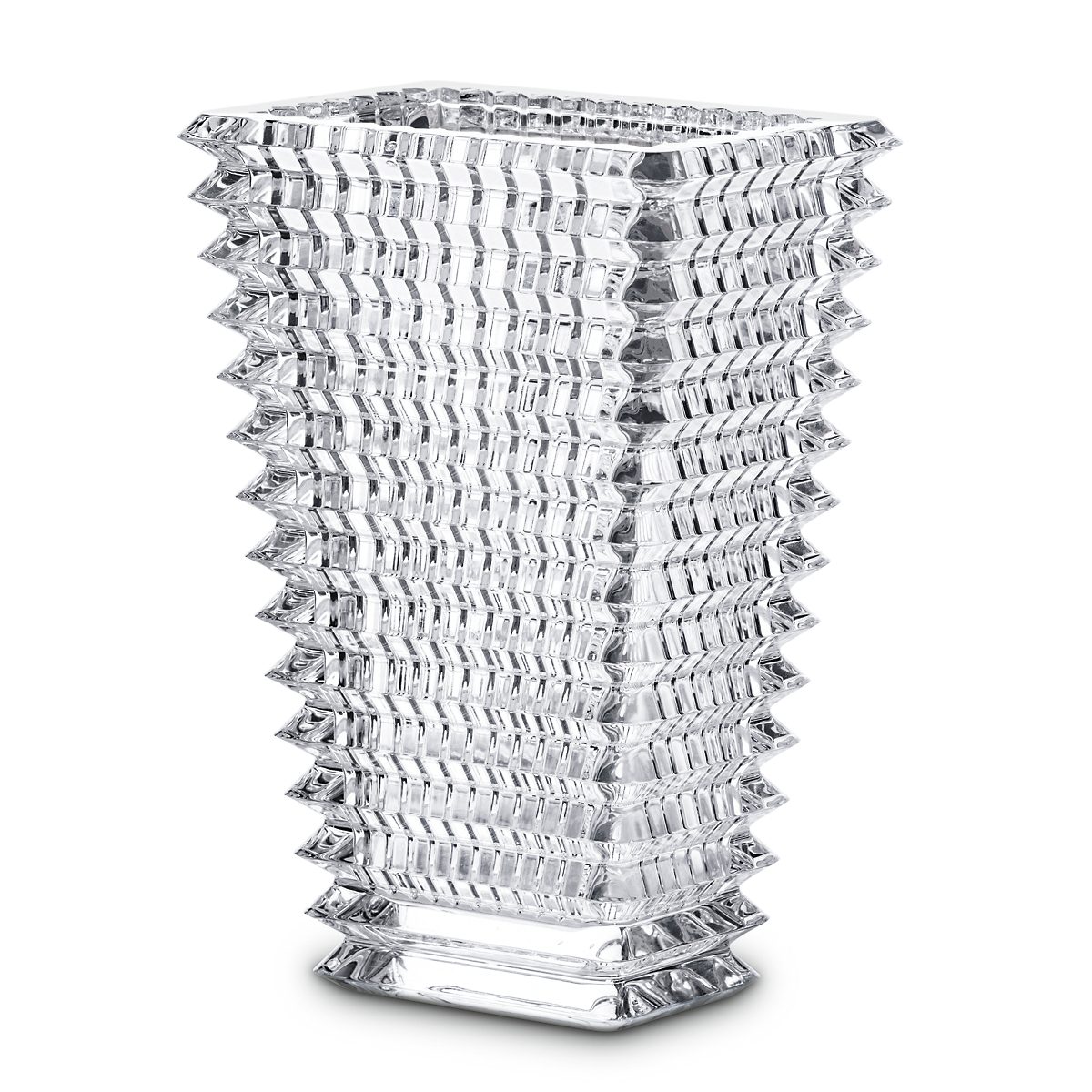 Baccarat Rectangle Eye Vases, Clear