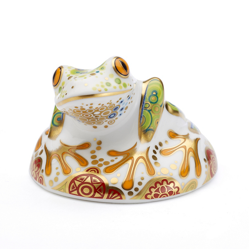 Royal Crown Derby Frog Hop Paperweight
