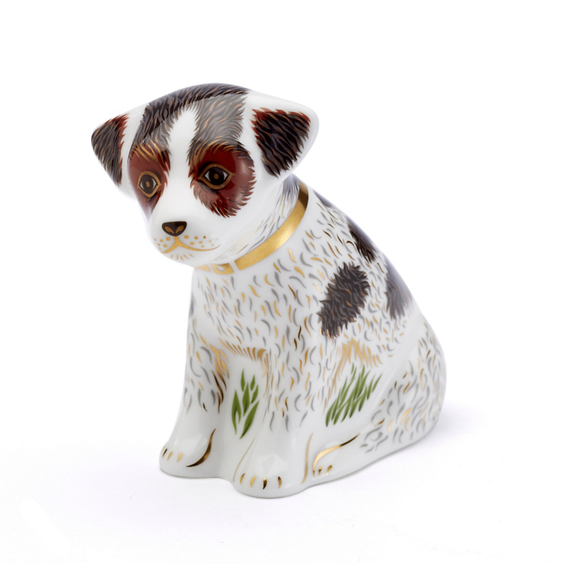 Royal Crown Derby Bertie Puppy Paperweight