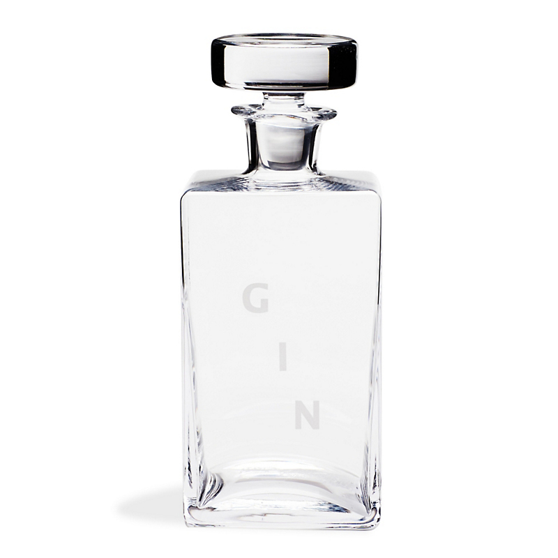 William Yeoward Crystal Square Decanter, Gin