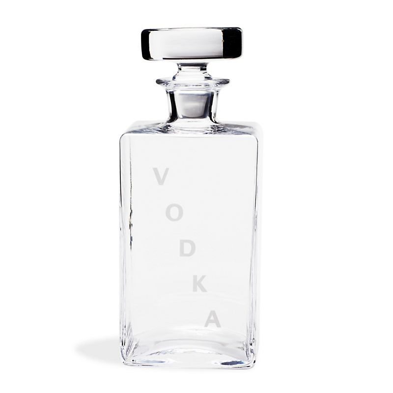 William Yeoward Crystal Square Decanter, Vodka