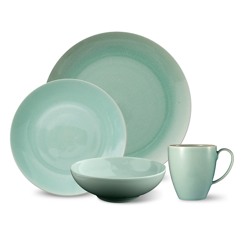 Kim Seybert Crackle Sea Glass Porcelain Dinnerware