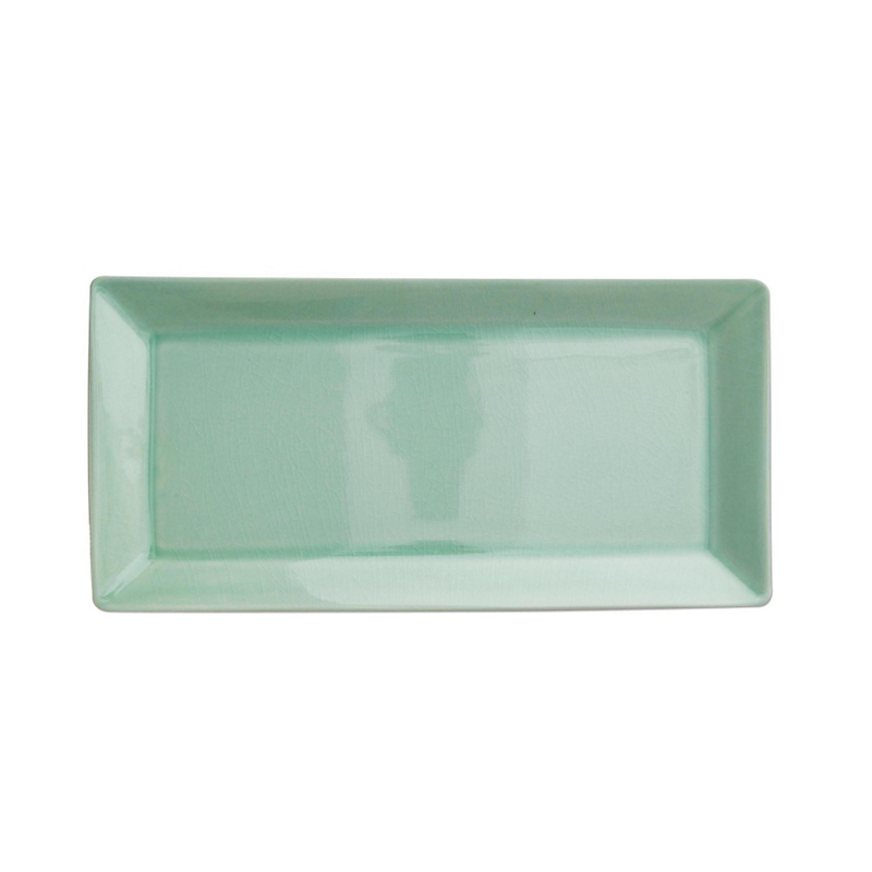 Kim Seybert Crackle Sea Glass Porcelain Rectangular Tray