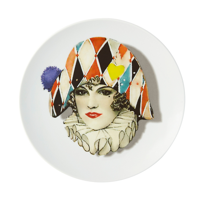 Christian Lacroix Maison Love Who You Want Dessert Plate, Miss Harlequin