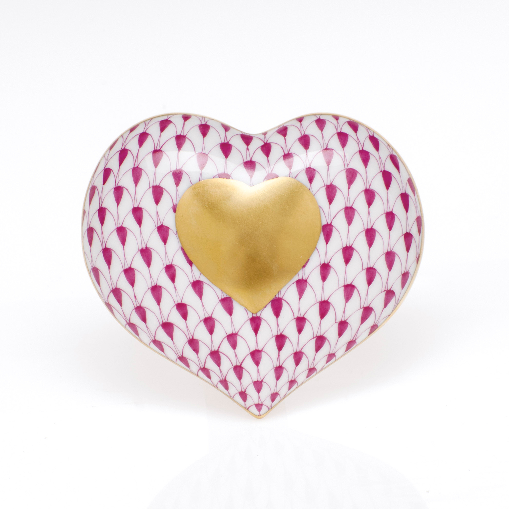 Herend Heart Of Gold, Raspberry