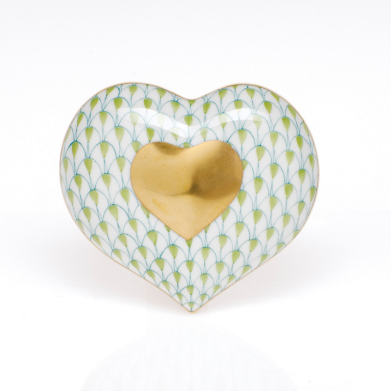 Herend Heart Of Gold, Key Lime