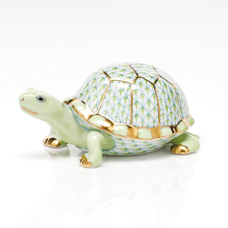 Herend Box Turtle, Key Lime
