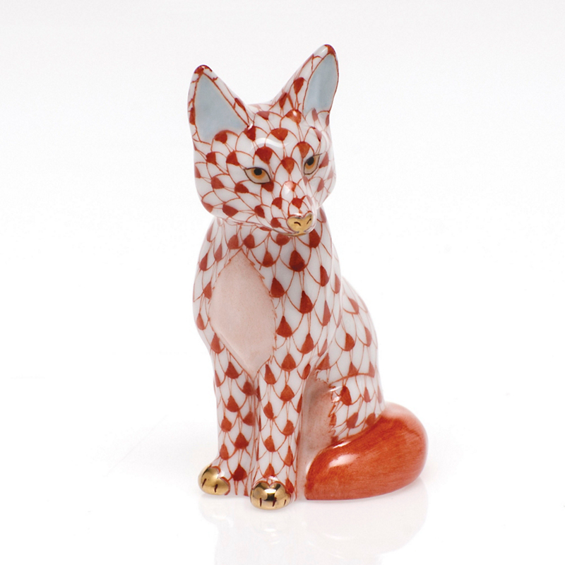 Herend Sitting Fox, Rust