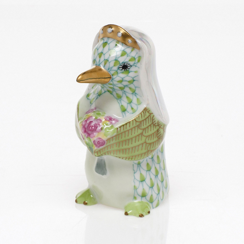Herend Penguin Bride, Key Lime