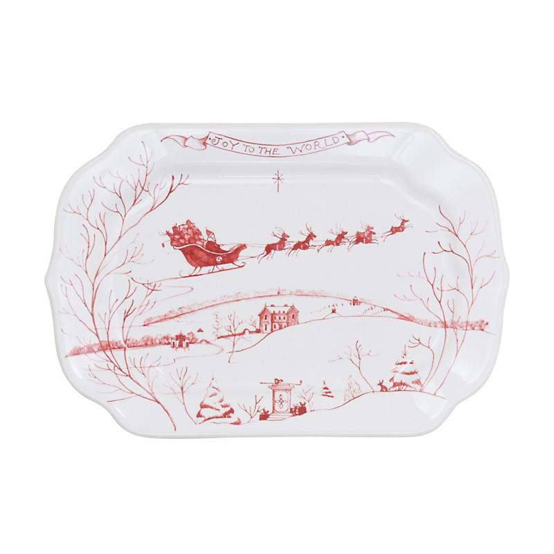 Juliska Country Estate 'Joy To The World' Christmas Tray, Ruby