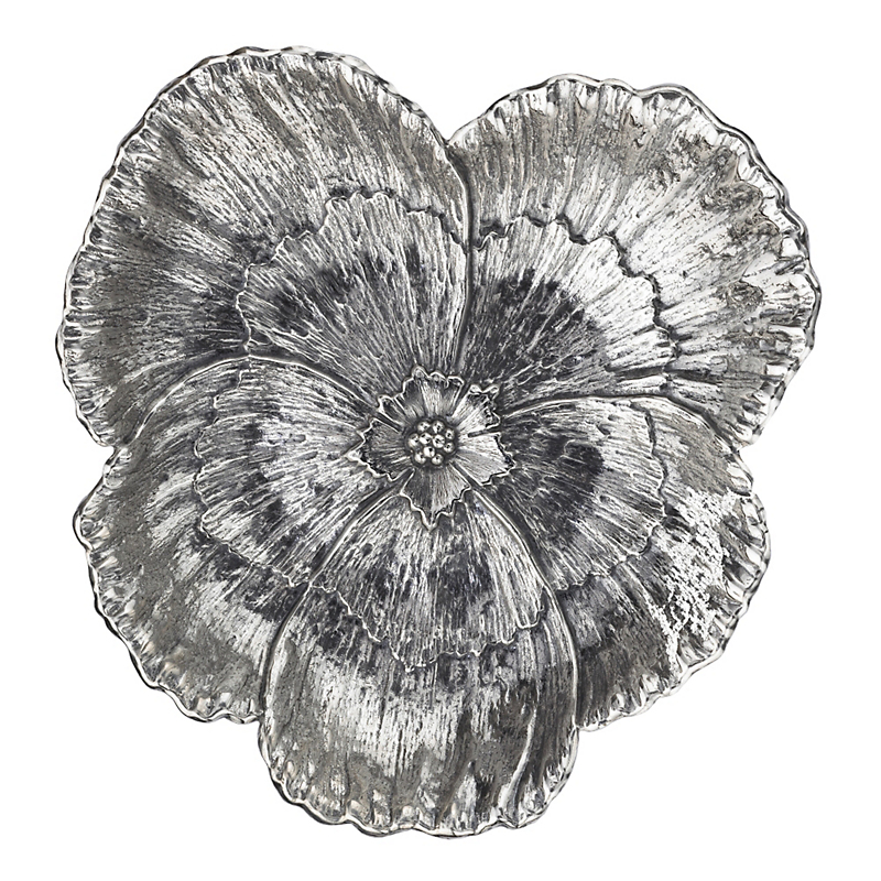 Buccellati Sterling Silver Pansy Dish, Large