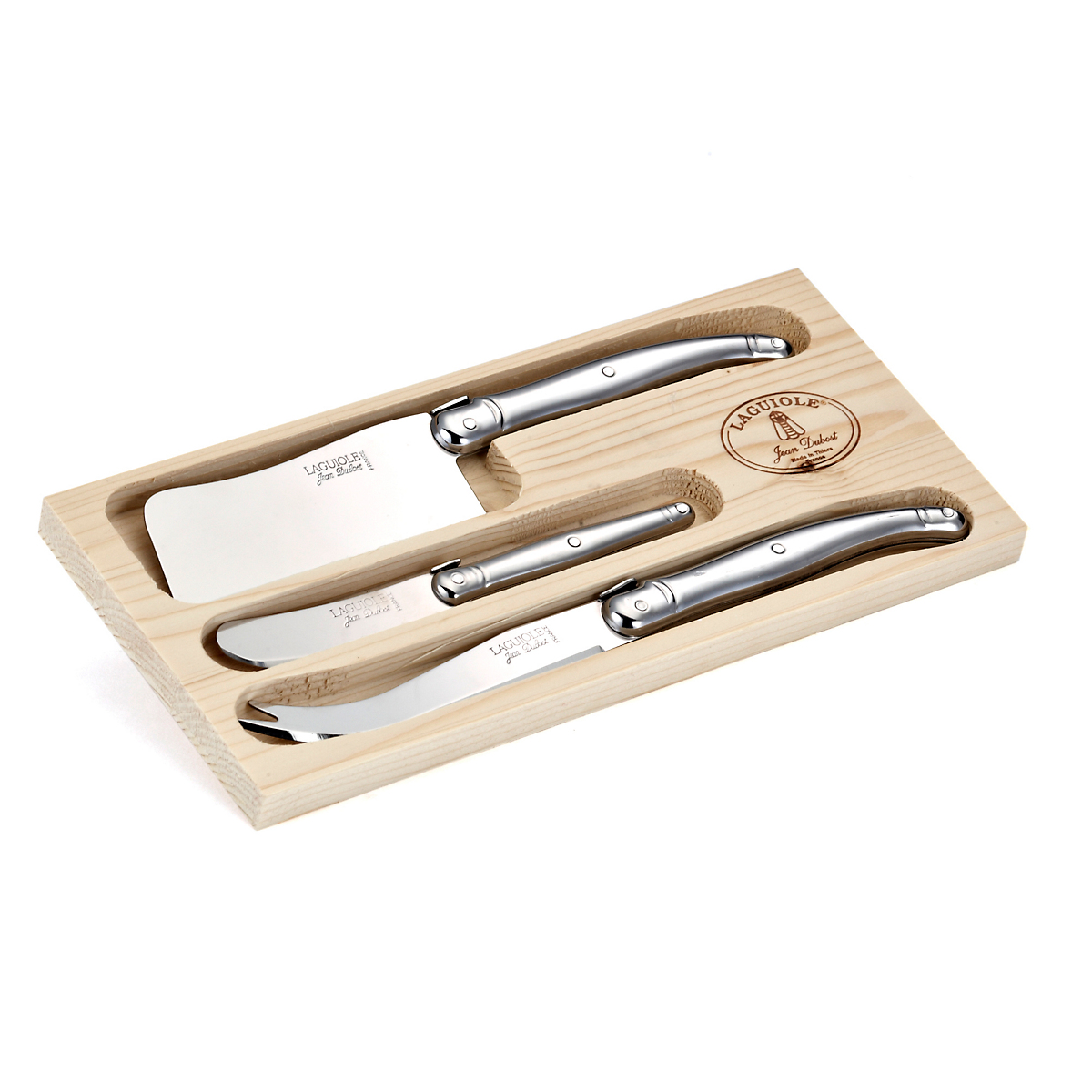 Laguiole Stainless 3-Piece Cheese Set