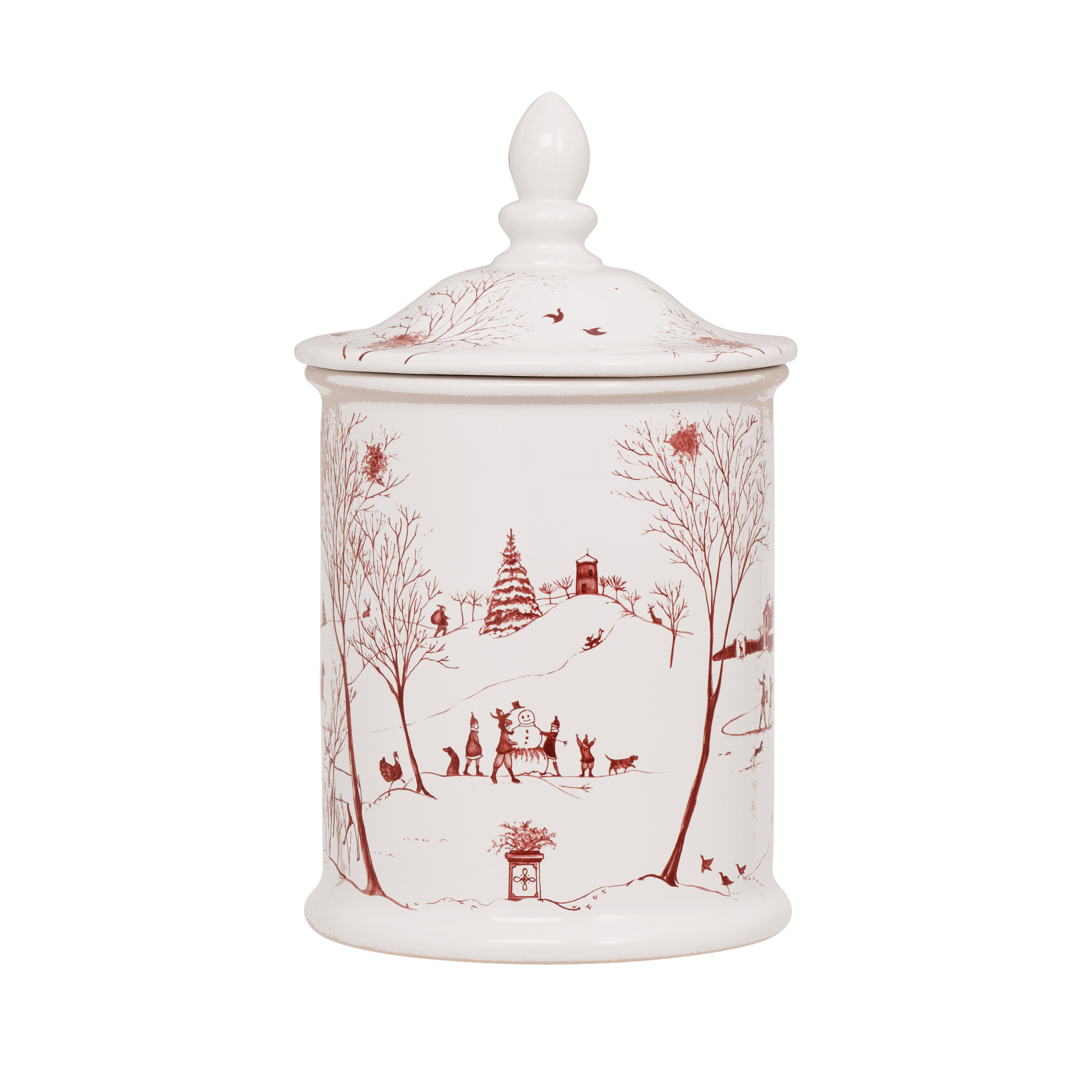 Juliska Country Estate Cookie Jar, Ruby