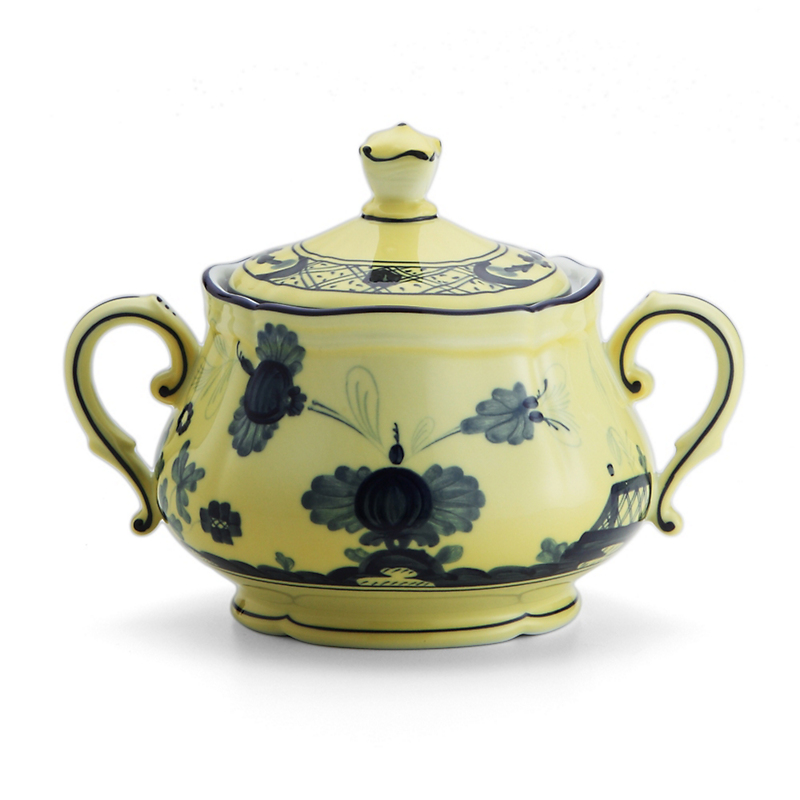 Richard Ginori Oriente Italiano Sugarbowl with Cover, Citrino