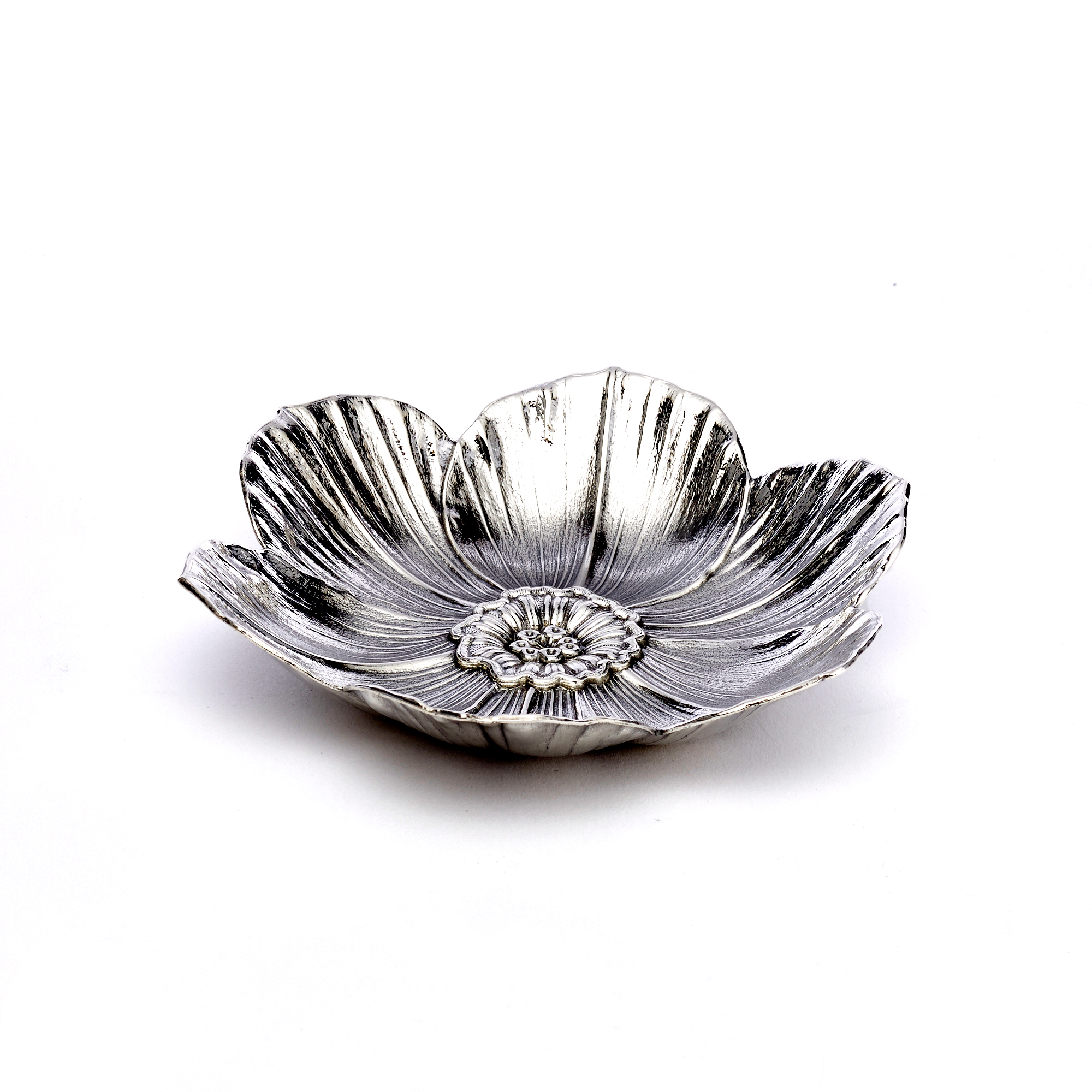 Buccellati Narcissus Sterling Silver Dish, Medium