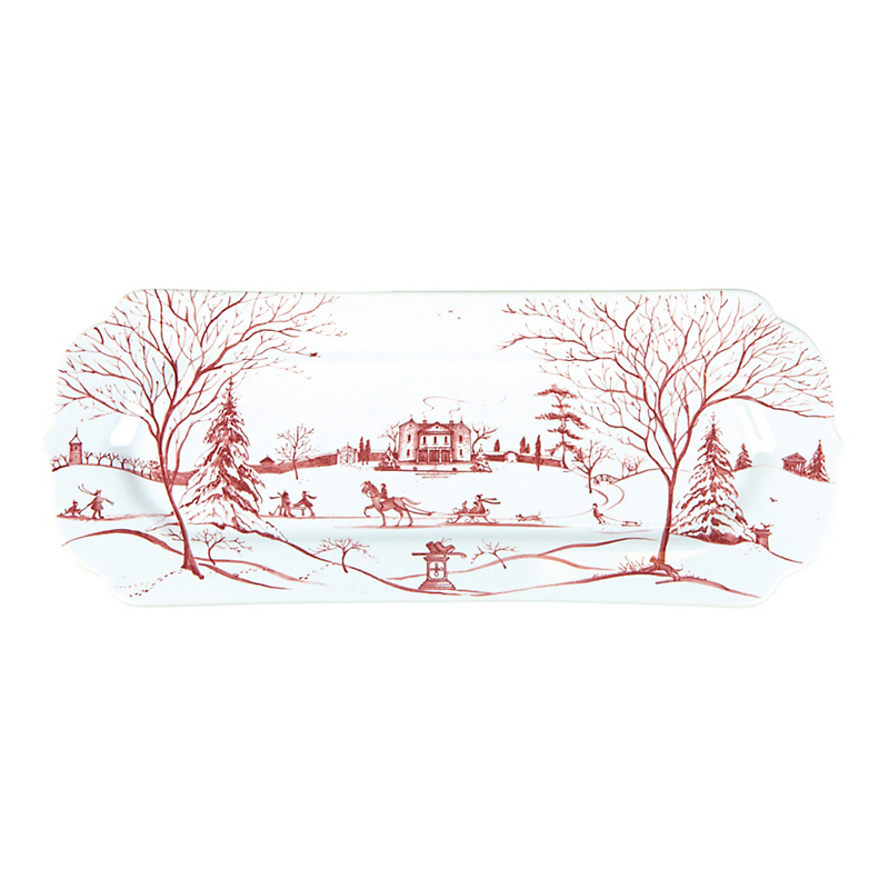 Juliska Country Estate Hostess Tray, Ruby