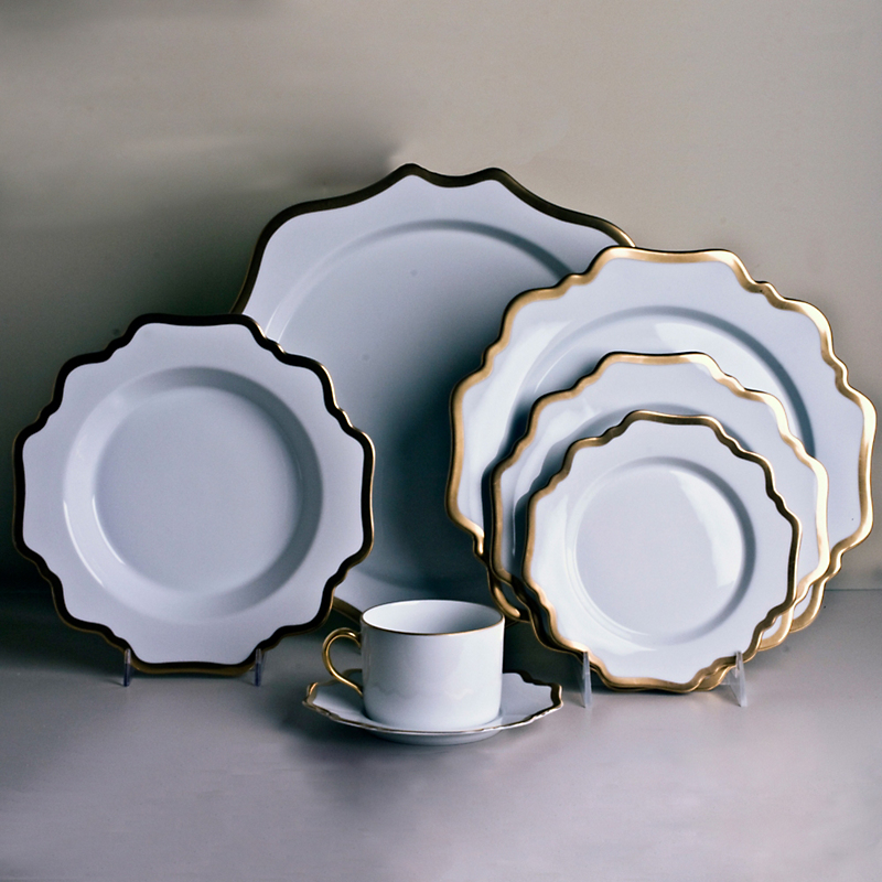 Anna's Antique Dinnerware, White