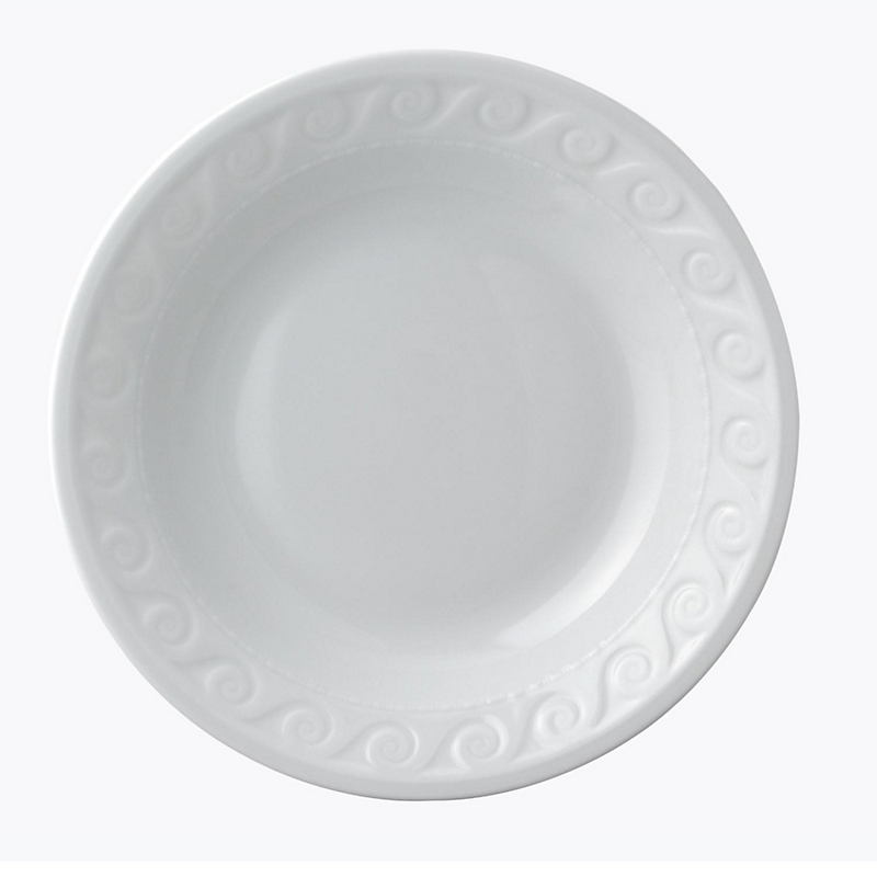 Bernardaud Louvre Open Vegetable Plate, White