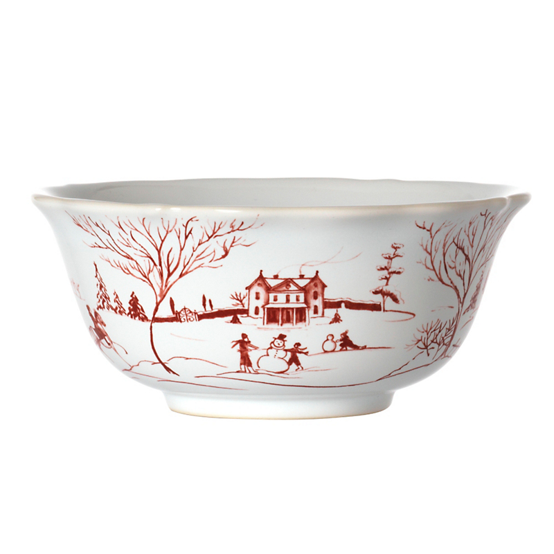 Juliska Country Estate Cereal Bowl, Ruby