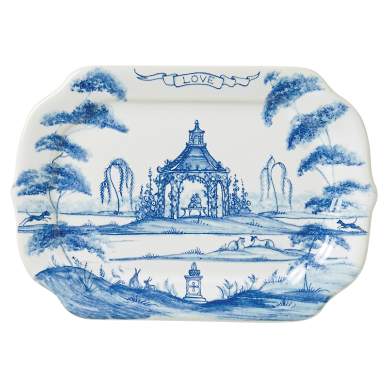 Juliska Country Estate Love Tray, Delft Blue