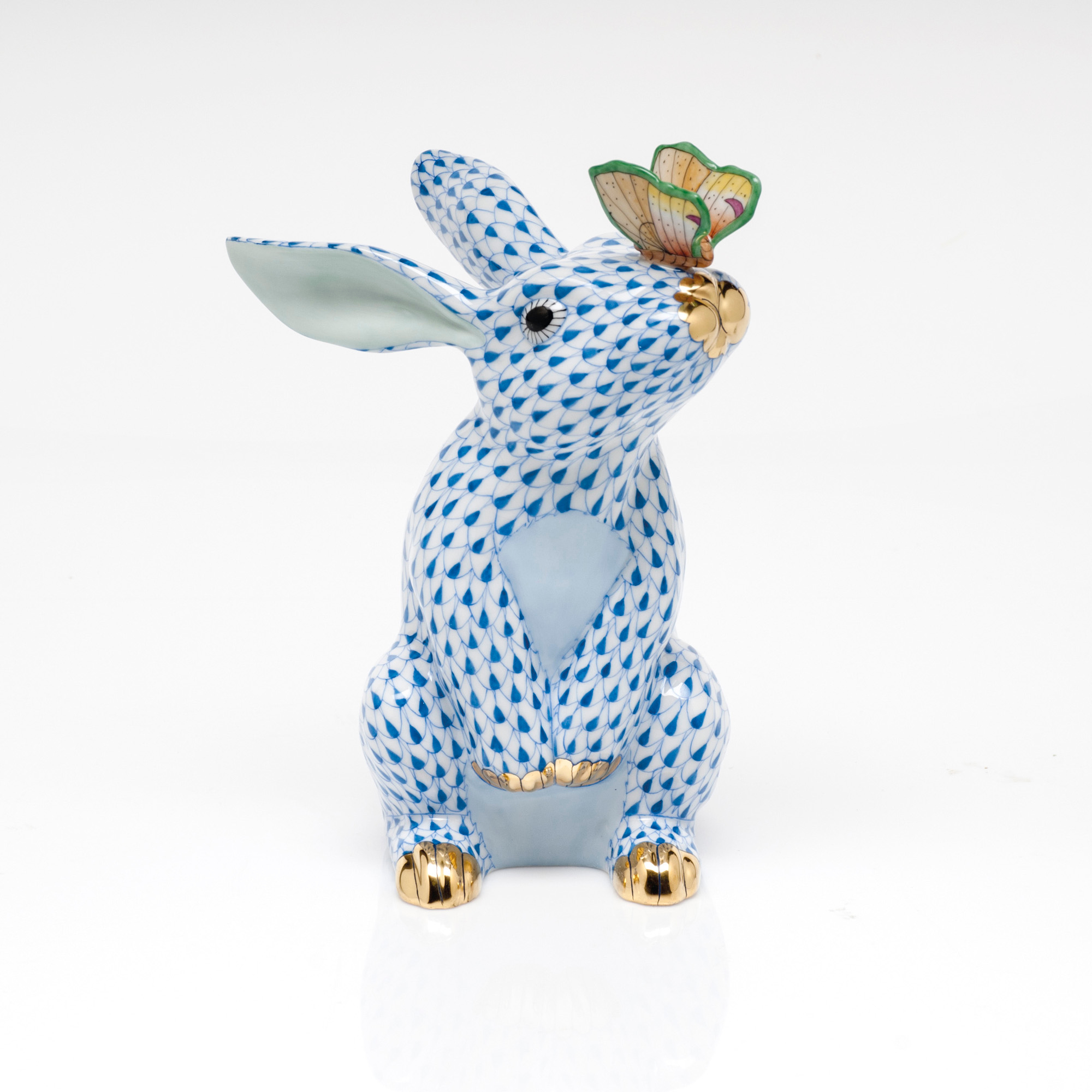 Herend Bunny & Butterfly, Blue