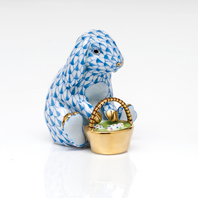 Herend Eggstravagant Rabbit, Blue