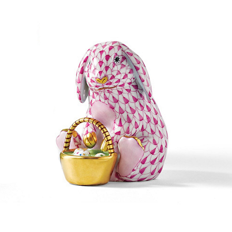 Herend Eggstravagant Rabbit, Raspberry