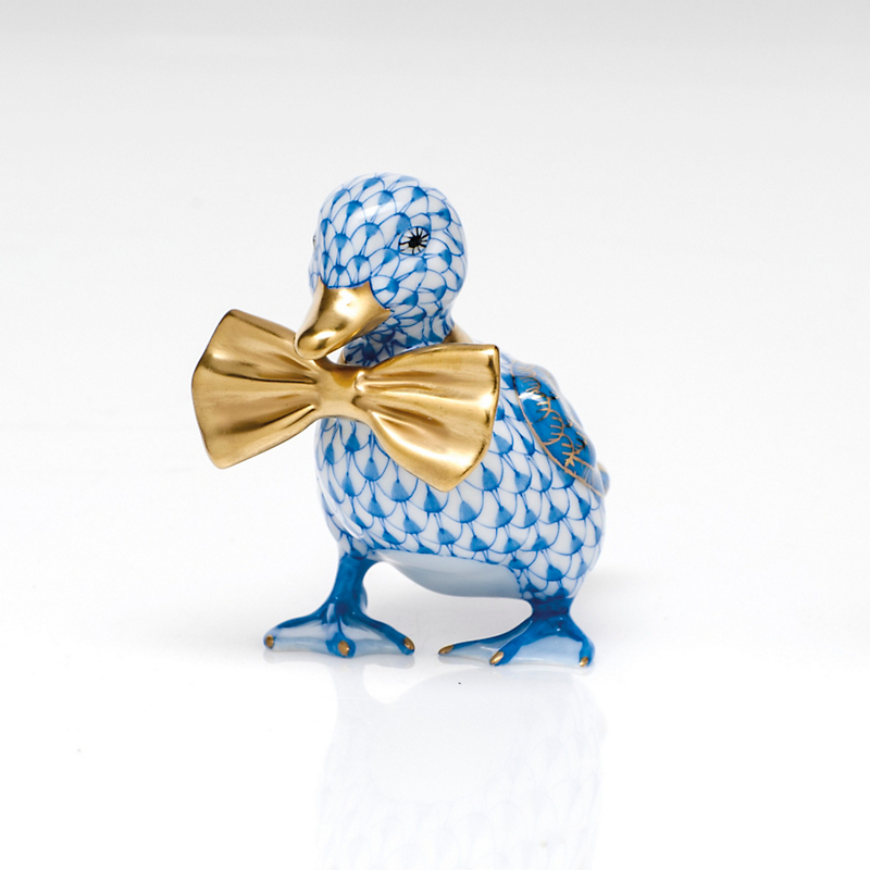 Herend Dashing Duckling, Blue