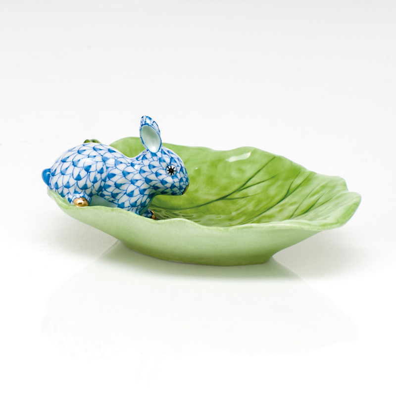 Herend Bunny & Cabbage, Blue