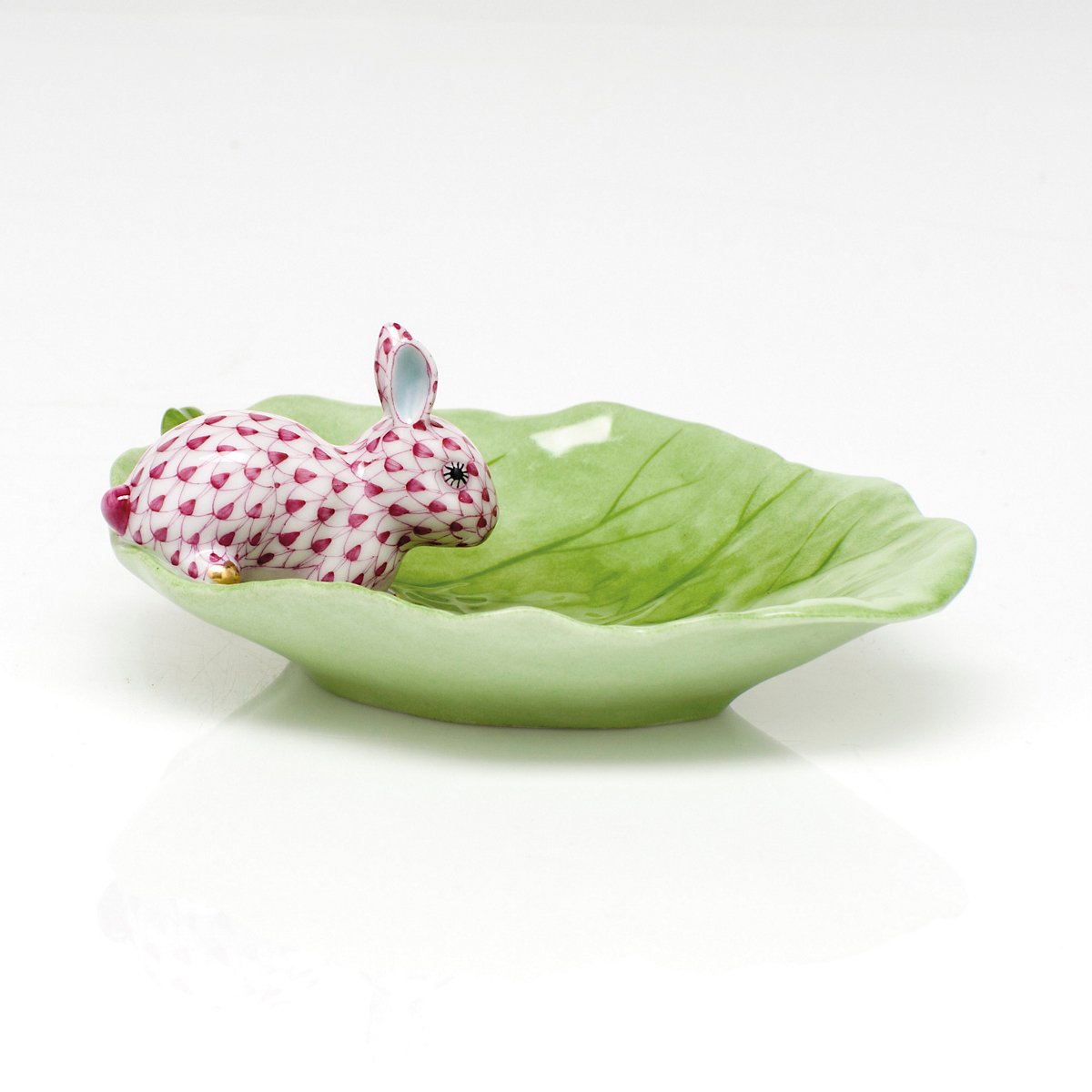 Herend Bunny & Cabbage, Raspberry