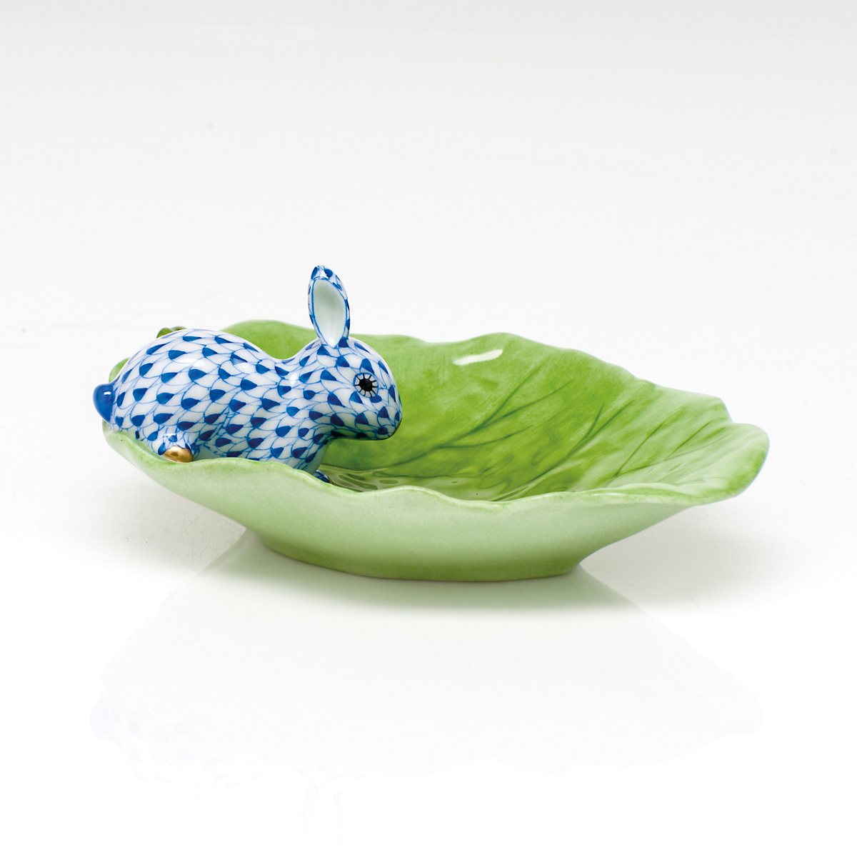 Herend Bunny & Cabbage, Sapphire