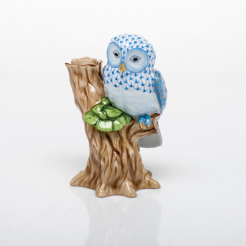 Herend Night Owl, Blue