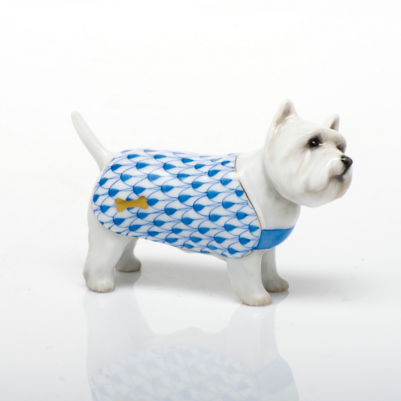 Herend West Highland Terrier, Blue