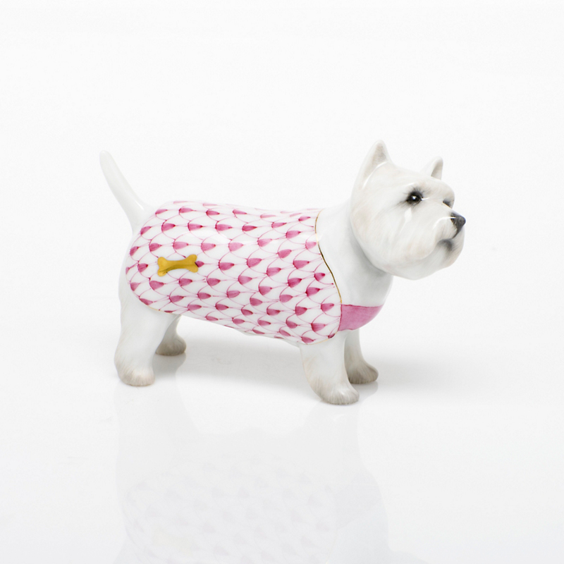 Herend West Highland Terrier, Raspberrt