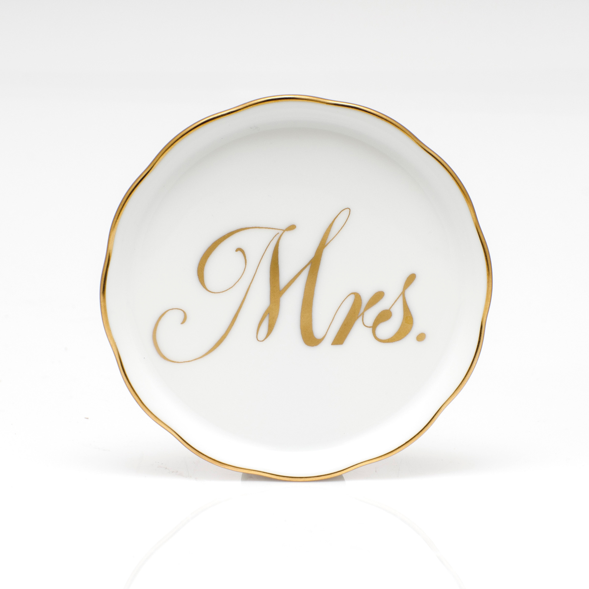 Herend Mrs. Coaster, White