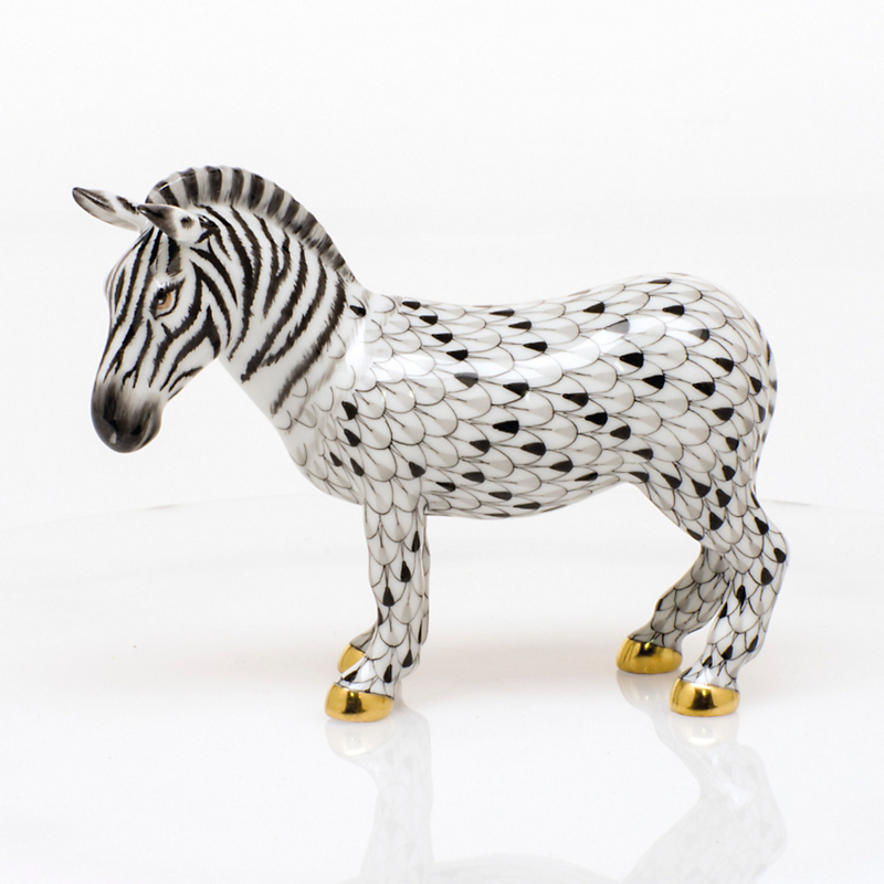 Herend Zebra, White