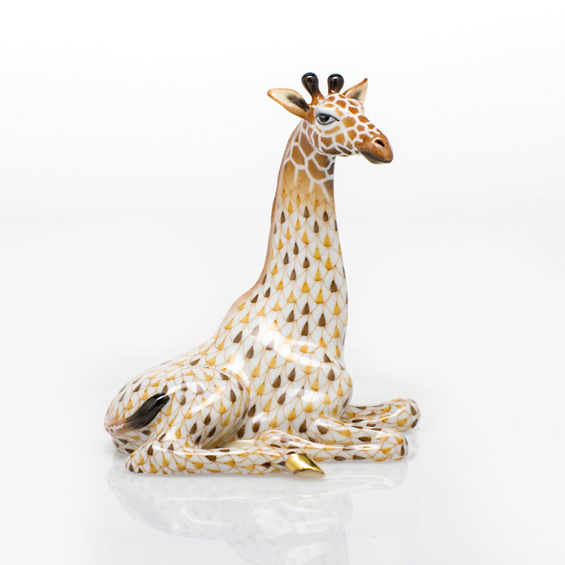 Herend Giraffe, White